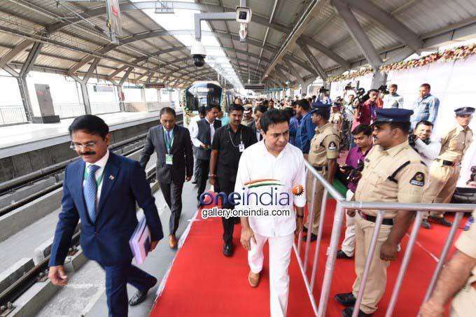 Telangana CM KCR Flags Off JBS To MGBS Metro Services