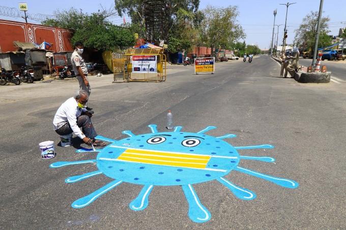 Coronavirus Awareness Painting Across World