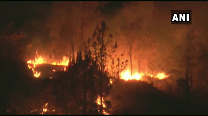 Forest Fire Breaks Out In Uttarakhand