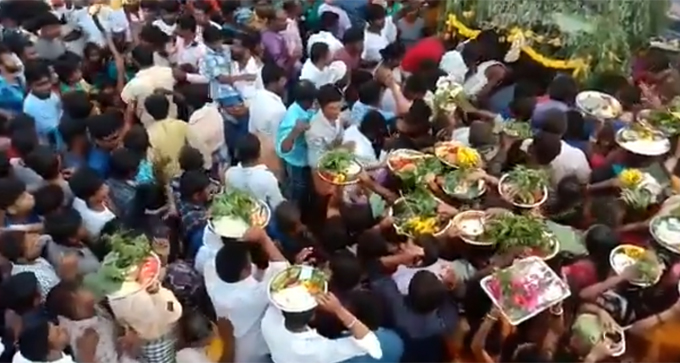 Large Numbers Of Locals Gathered To Attend Village Temple Fair In Ramanagara District, Karnataka