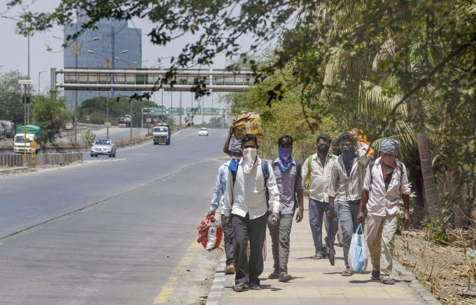 Stranded Migrant Workers Leave To Their Hometown