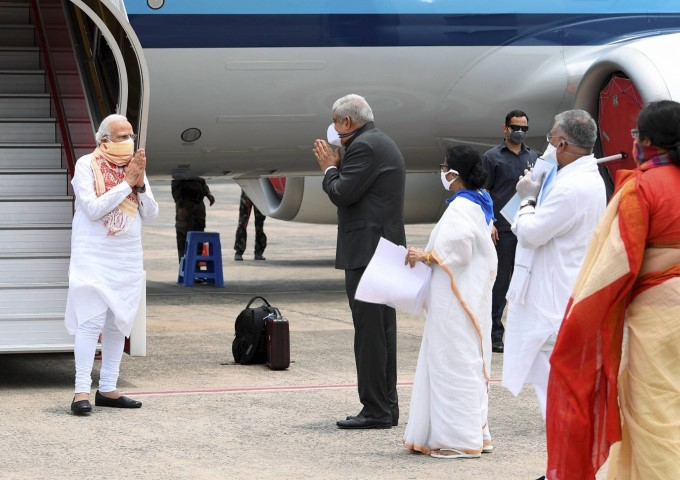PM Modi Visits West Bengal After Cyclone Amphan Devastation