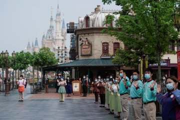 Shanghai Disneyland Reopens After Coronavirus Eases