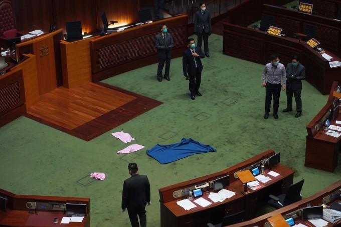 Tight Security As Hong Kong Set To Debate China National Anthem Bill