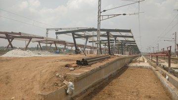 Baiyappanahalli New Railway Terminal Under Construction