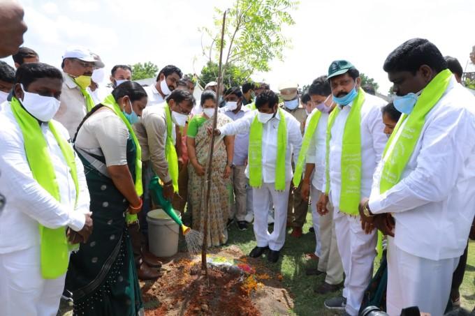 Energy Minister G.Jagadish Reddy Participated In 6th Phase Haritha Haram Program