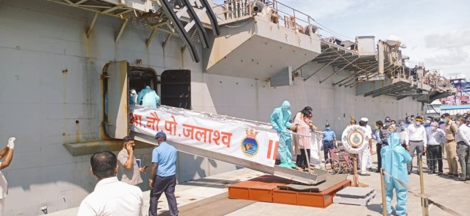 INS Jalashwa Carrying Indian Nationals From Colombo Arrives At Tuticorin