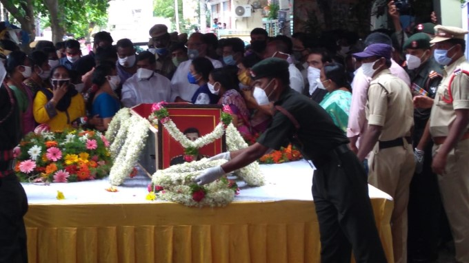 Last Rites Of Colonel Santosh Babu Who Was Martyred In Indo-china Clash