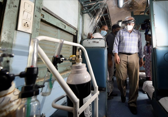 Train Coaches Converted Into Isolation Ward In Delhi
