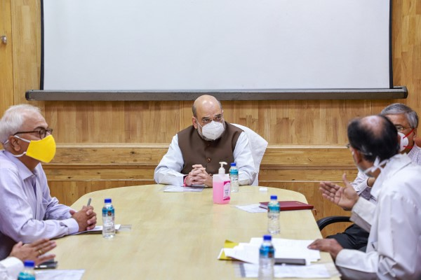 Home Minister Amit Shah Pays Surprise Visit To LNJP Hospital