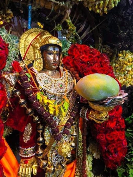 காரைக்கால் மாங்கனி திருவிழா திருக்கல்யாணம் கோலாகலம்