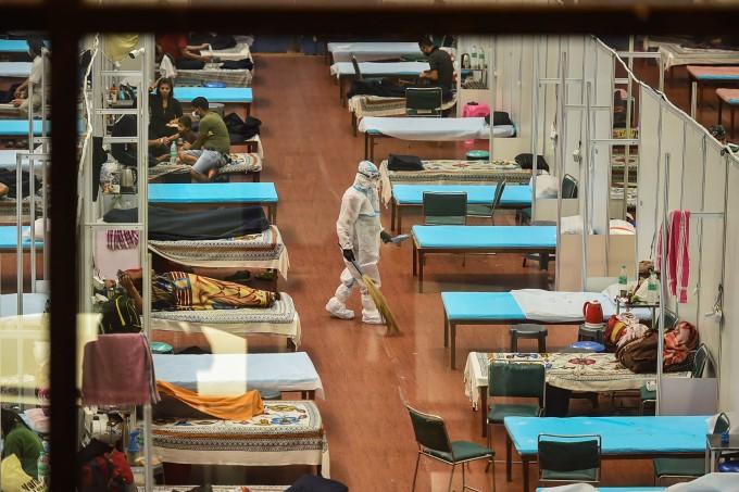 Patients At CWG Village COVID-19 Care Centre In New Delhi