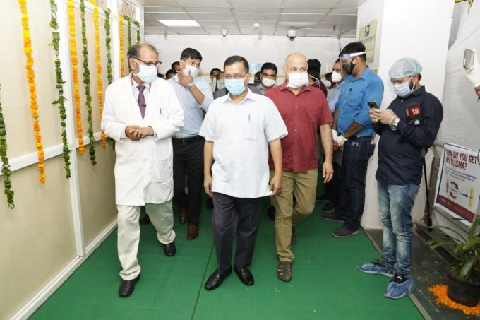 Delhi CM Arvind Kejriwal Inaugurate The Second Plasma Bank At LNJP Hospital In Delhi