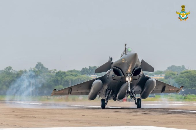 First Batch Of IAF Rafale Aircrafts Lands At Ambala Airbase