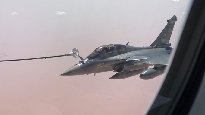 First Batch Of Rafale Aircrafts Take Off From Dassault Aviation Facility