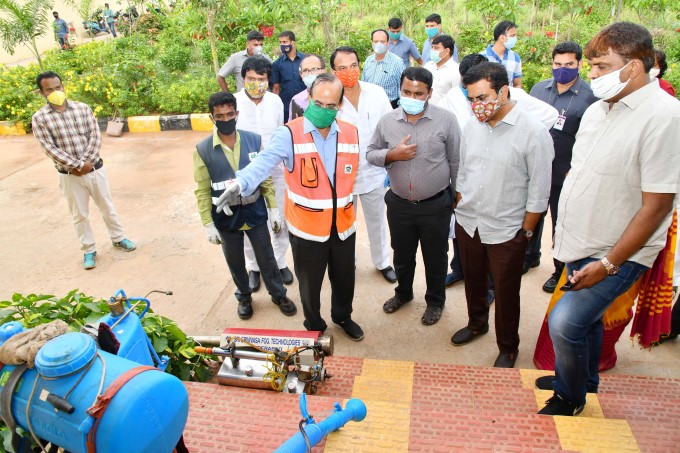 Minister Of MA&UD K.T.Rama Rao Distributed PPEs Kit To Sanitation And Entomology Workers
