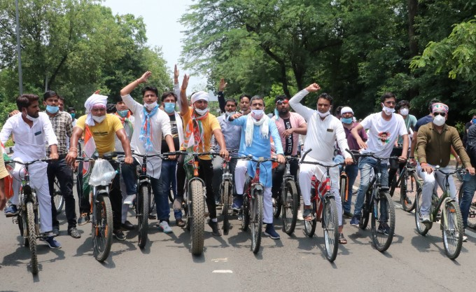Opposition Parties Protest Against Hike In Fuel Price