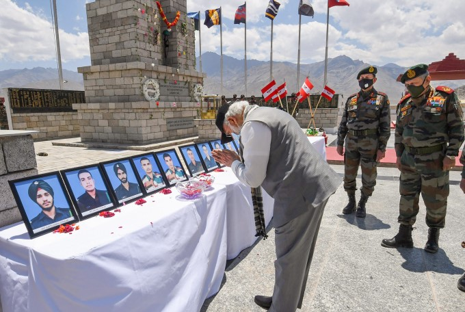 Prime Minister Narendra Modi Visit Leh