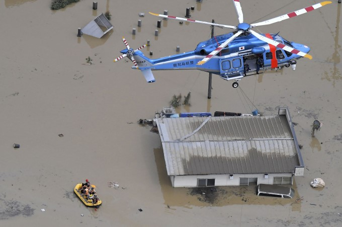 Record-Breaking Rainfall Triggers Floods In Japan