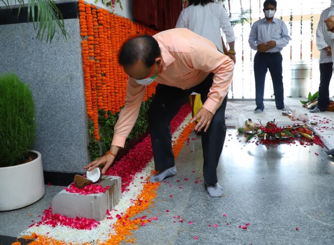 Union Health Minister Dr Harsh Vardhan Inaugurates OPD Building At AIIMS In New Delhi