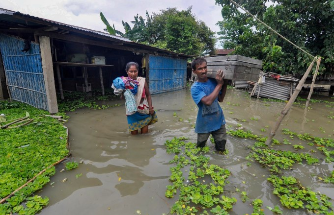 Heavy Rainfall And Flood In Assam