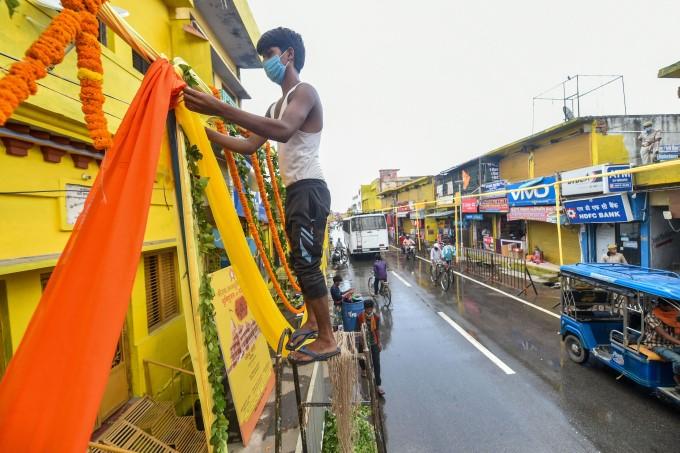 ఫోటోలు: రామమందిర భూమిపూజ కోసం శరవేగంగా సాగుతున్న ఏర్పాట్లు