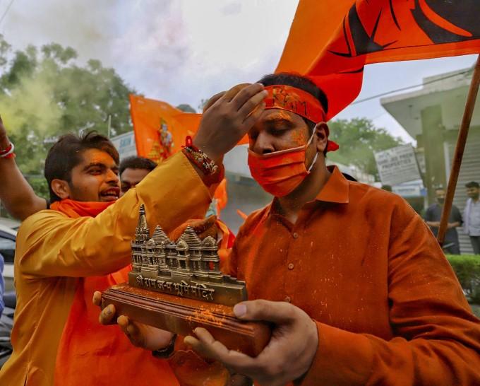 People Celebrate The Ram Temple Bhoomi Pujan