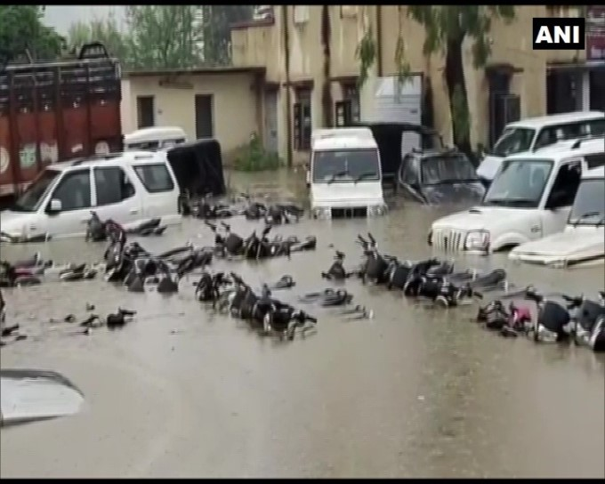 Nagod Police Station Flooded In Satna District, Madhya Pradesh