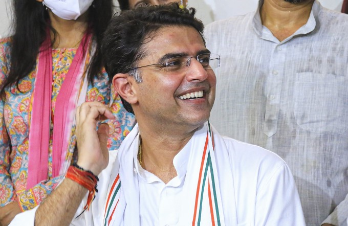Congress Leader Sachin Pilot Returns To His Residence In Jaipur
