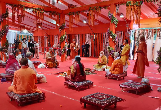 ಅಯೋಧ್ಯೆ ರಾಮಮಂದಿರ ಭೂಮಿಪೂಜೆಯ ಅಮೋಘ ಕ್ಷಣ