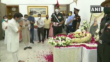 Leaders Pay Last Respect To Former President Pranab Mukherjee