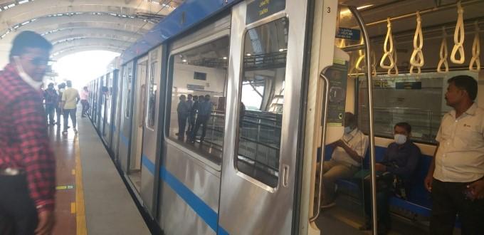 Chennai Metro Services Resume In Chennai