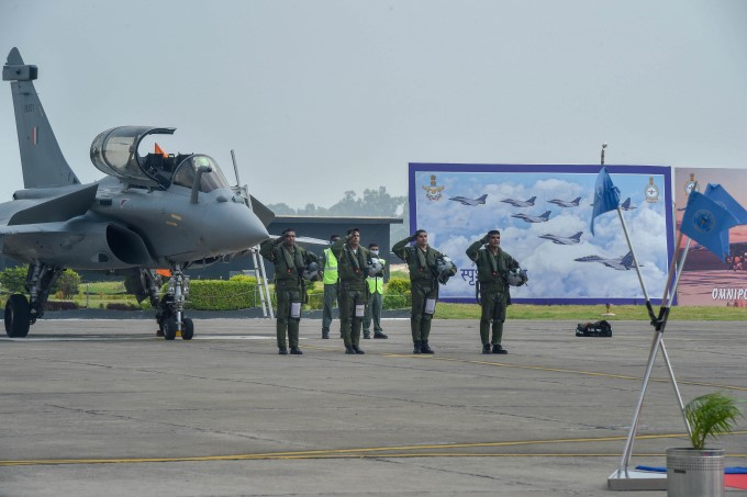 Defence Minister Rajnath Singh Induct 5 Rafale Aircraft Into IAF In Ambala