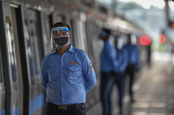 Preparations Underway At Delhi Metro Stations For Resumption Of Services