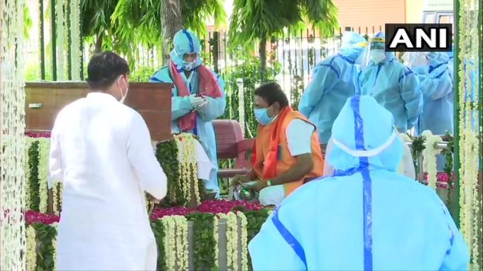 Last Rites Of Former President Pranab Mukherjee