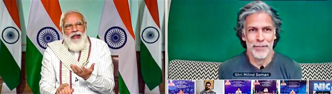PM Modi Interacts With Fitness Influencers During Fit India Dialogue