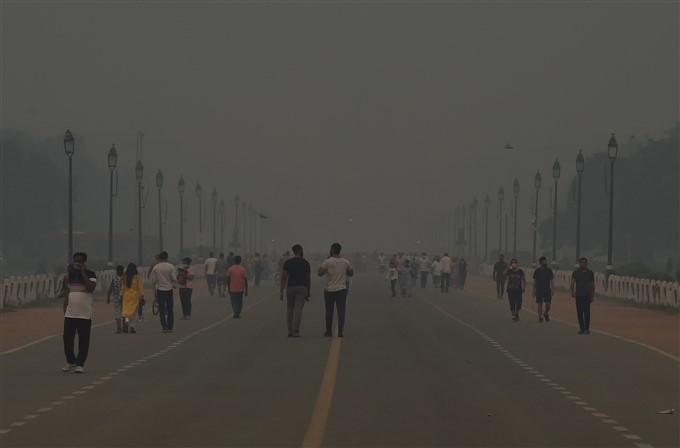 Hazy Weather Conditions, In New Delhi