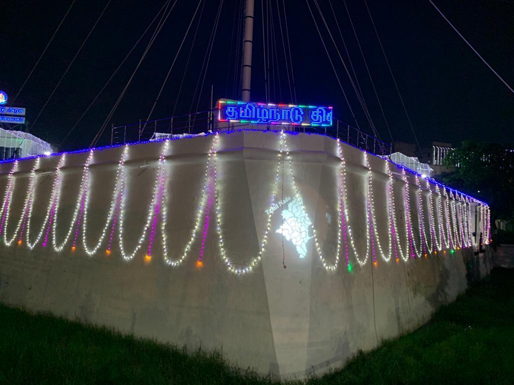தமிழ்நாடு நாள் கொண்டாட்டம்.. வண்ண விளக்கொளியில் ஜொலிக்கும் தலைமைச் செயலகம்.