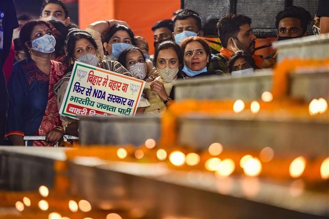 ദില്ലി ബിജെപി ആസ്ഥാനത്ത് പാർട്ടി പ്രവർത്തകരെ അഭിസംബോധന ചെയ്ത് നരേന്ദ്ര മോദി