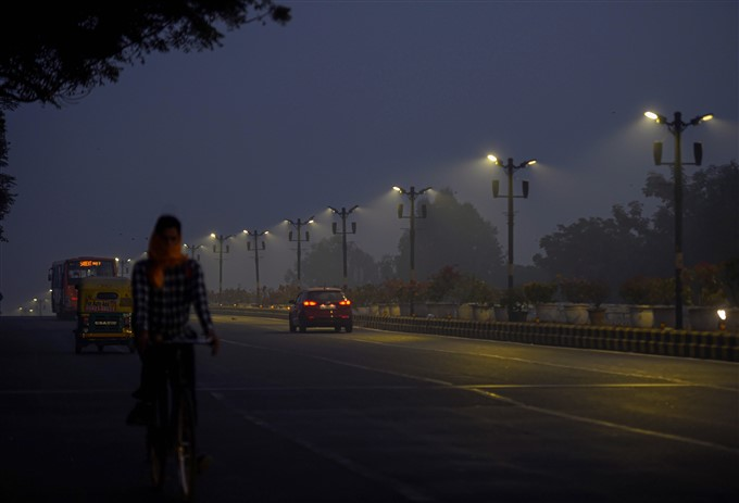 Hazy Weather Conditions In Gurugram And New Delhi
