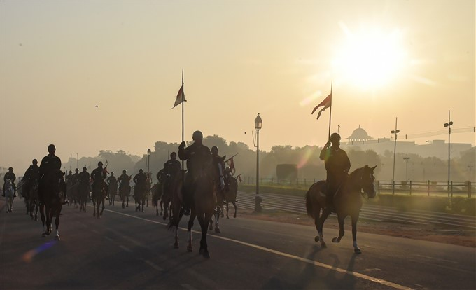 Republic Day Parade Rehearsal In New Delhi
