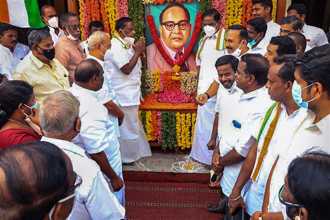 Leaders Pays Tribute To Dr B R Ambedkar On His Death Anniversary