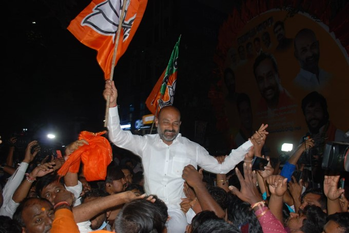 GHMC Elections 2020 Results: Photos : BJP Celebrates Victory In Greater Polls