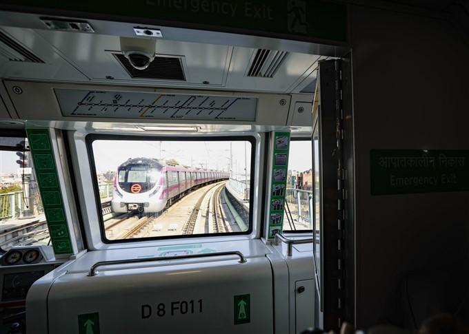 PM Modi Inaugurates India's First Driverless Train In Delhi