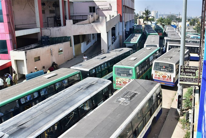 KSRTC And BMTC Employees Protest In Karnataka