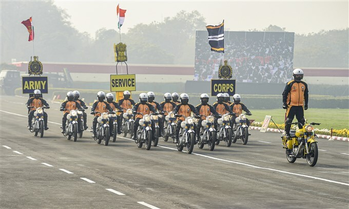73rd Army Day Parade, At Parade Ground In New Delhi