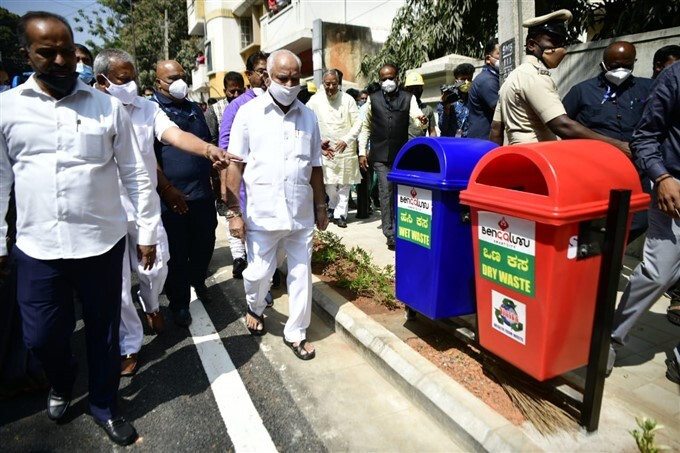 Bengaluru Smart City Works Inspection By CM Yediyurappa