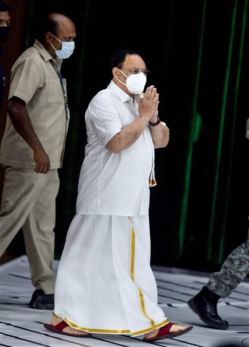 BJP President JP Nadda Participate In Pongal Festivities, Chennai