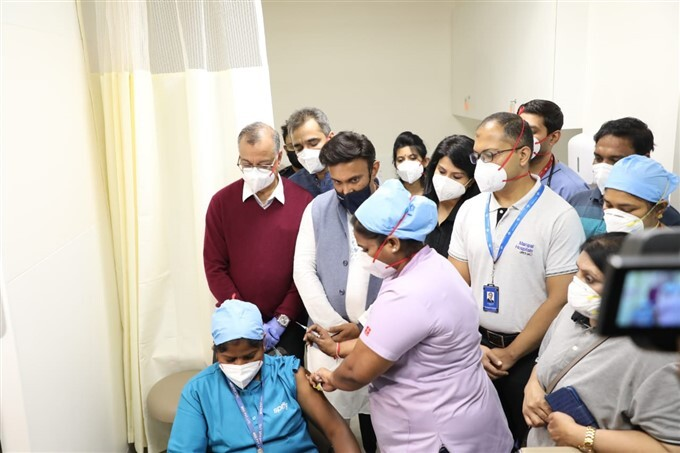 First Round Of COVID Vaccination Drive Across Karnataka
