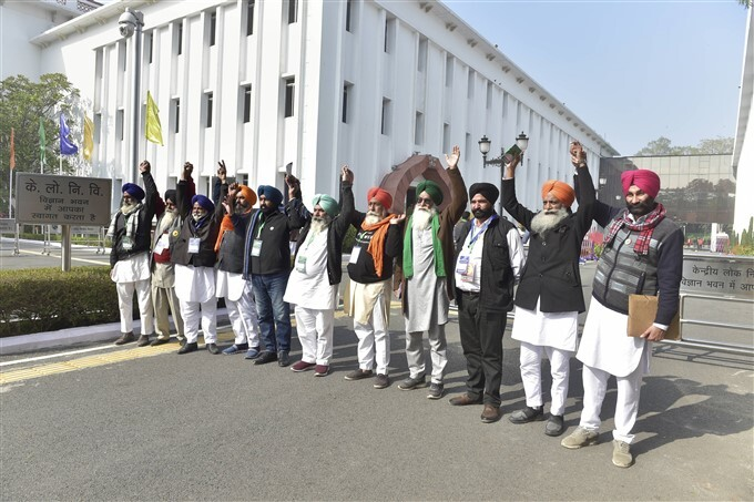 Farmers Representatives During 10th Round Of Talks With The Government On New Farm Laws In Delhi